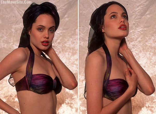 Angelina Jolie, 16-year-old swimsuit model photos